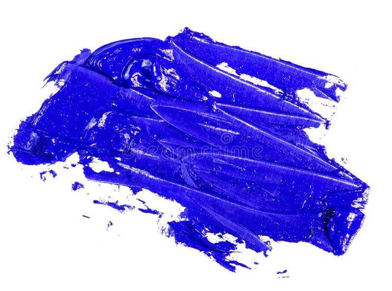Fleck der blauen ?lfarbe auf einem wei?en stockfotografie