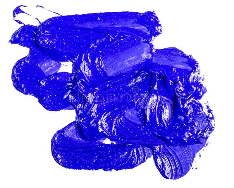 Fleck der blauen ?lfarbe auf einem wei?en lizenzfreie stockfotos