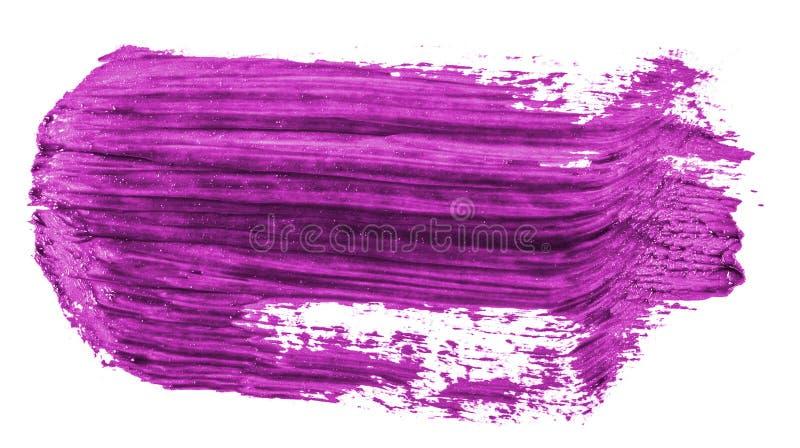 Fleck der purpurroten ?lfarbe auf Wei? stockfotos