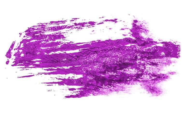 Fleck der purpurroten ?lfarbe auf Wei? stockbilder