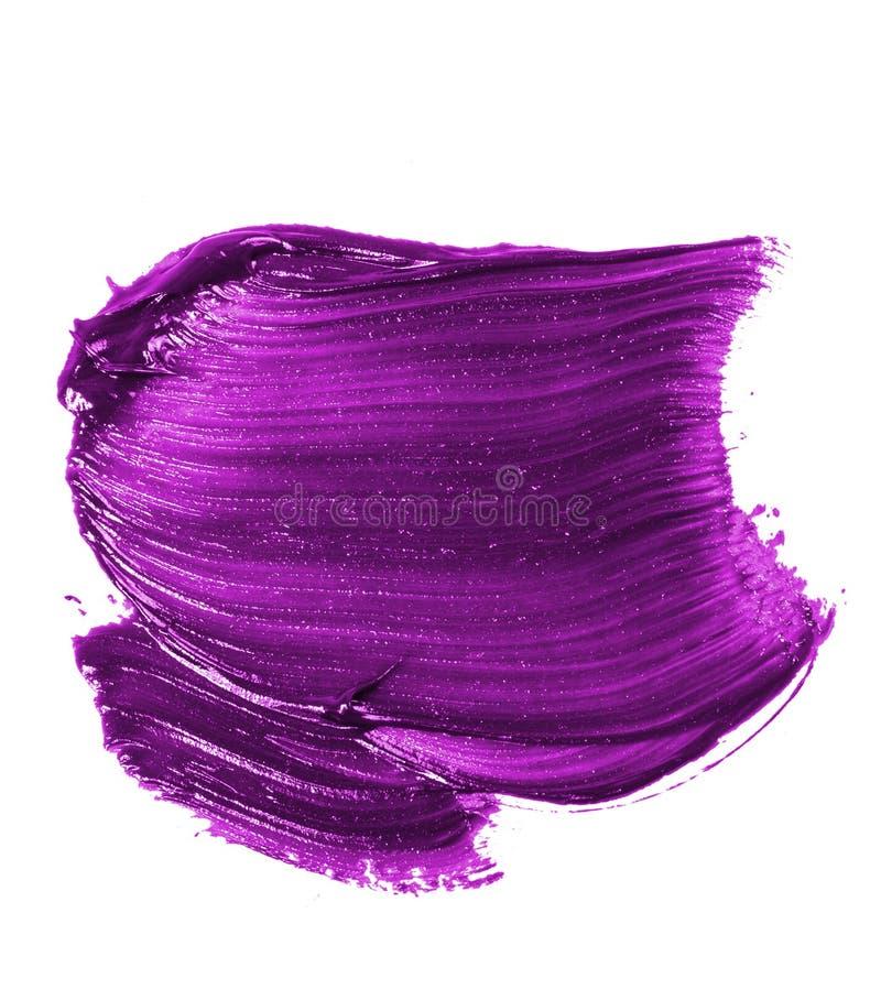 Fleck der purpurroten ?lfarbe auf Wei? lizenzfreie stockfotografie
