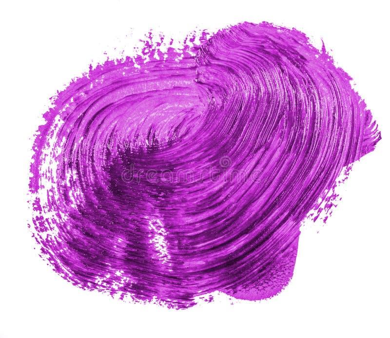 Fleck der purpurroten ?lfarbe auf Wei? stockbild