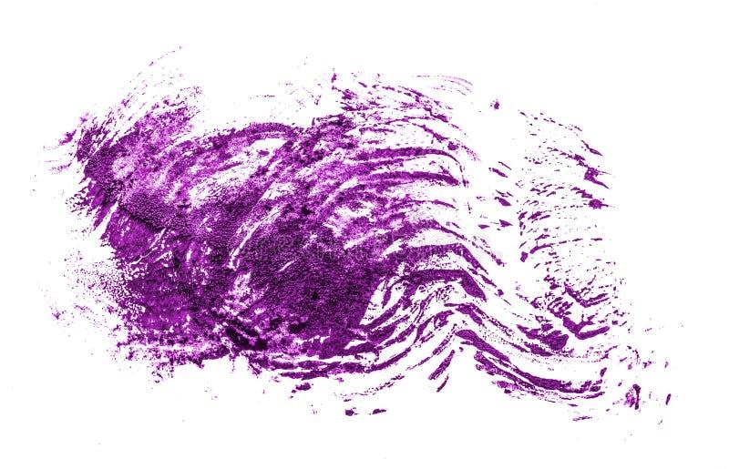 Fleck der purpurroten ?lfarbe auf Wei? lizenzfreies stockbild