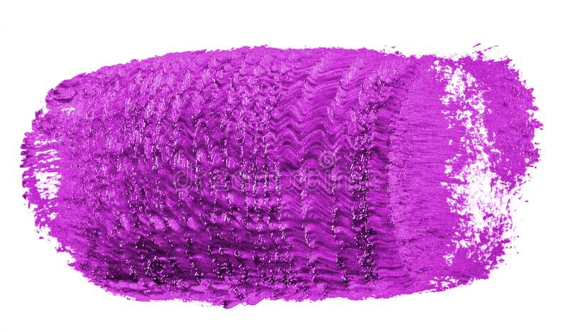 Fleck der purpurroten ?lfarbe auf Wei? lizenzfreie stockbilder