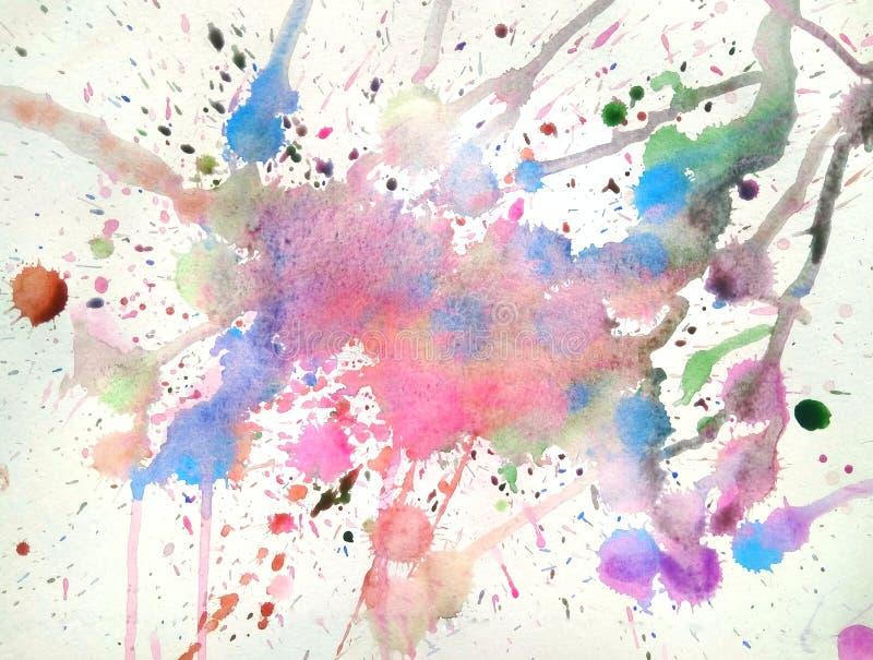Flecke färben Illustration whotercolor Hintergrund lizenzfreie abbildung