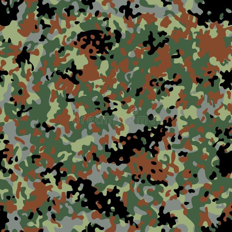 Flectarn伪装无缝的样式 向量例证