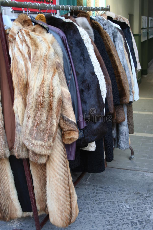 Free Flee Market - Fur Coats Stock Photos - 21127243