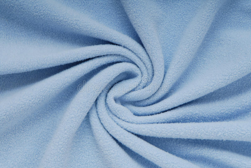 Fleece textile, beautiful shape, blue cloth, stock photography