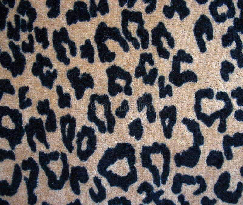 Fleecy brown leopard skin fabric background