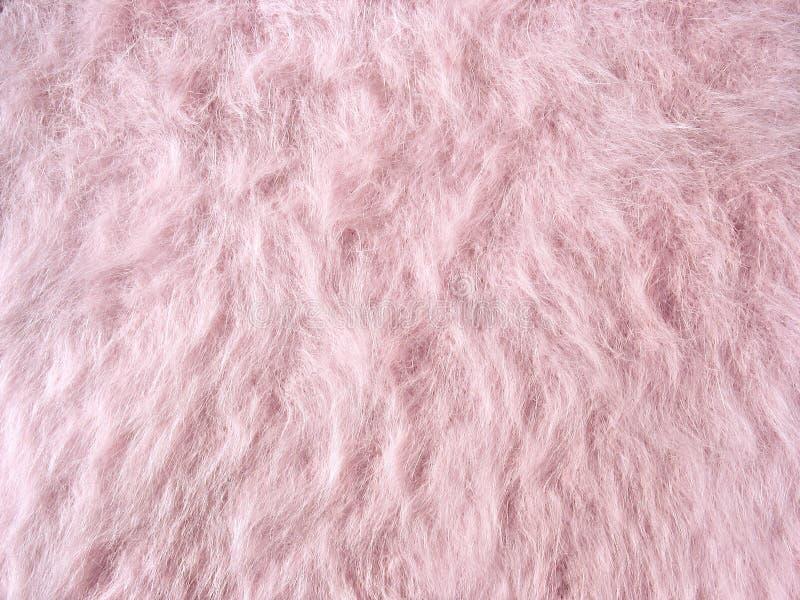 fleecy rosa woolen för angoratorkduketyg royaltyfri bild