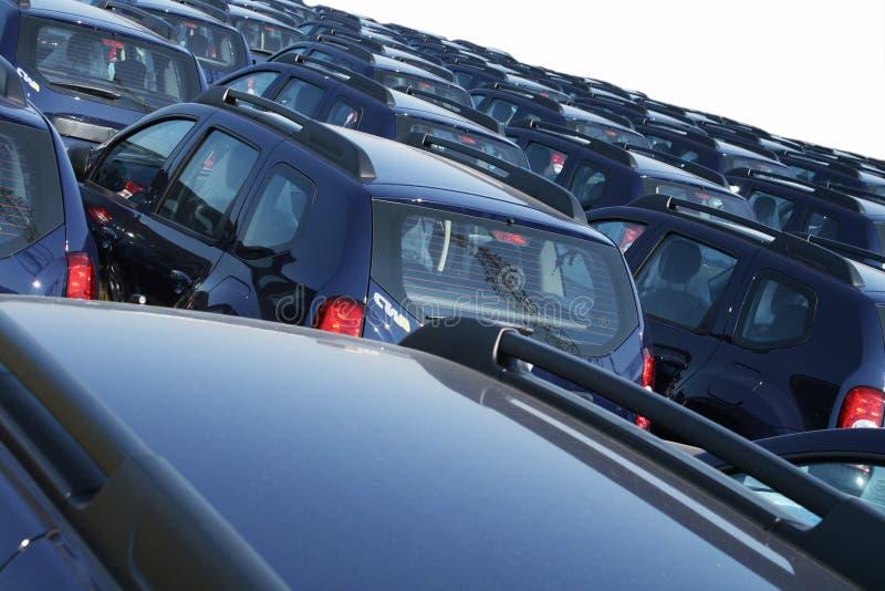 Fleet of cars. Fleet of same model of car royalty free stock photo