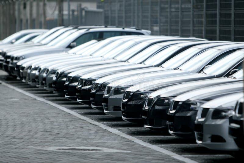 Fleet of cars royalty free stock photo