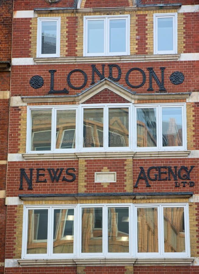 Fleet Street Londyn Londyńska agencja prasowa obrazy royalty free
