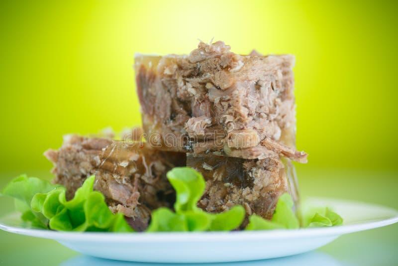 Fleisch-Aspik stockbild