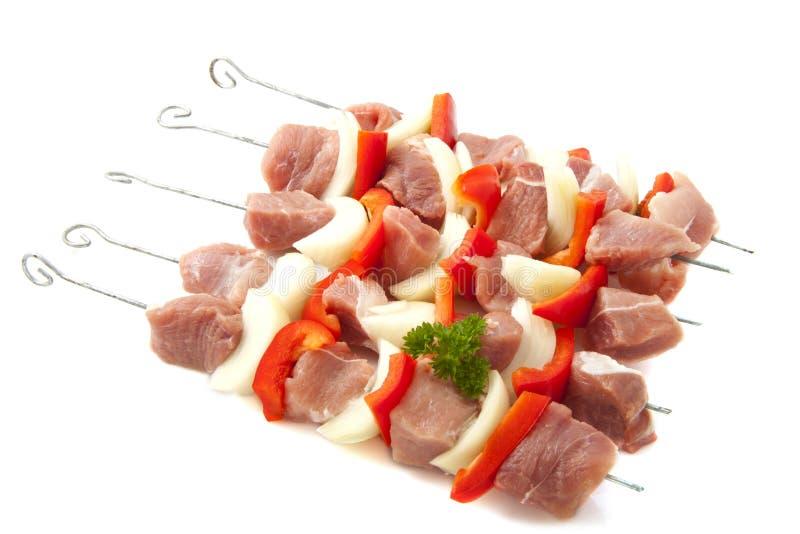 Fleisch auf bbq stockbild