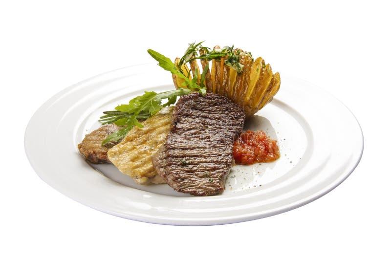 Fleisch carne Ein traditioneller spanischer Teller stockbilder