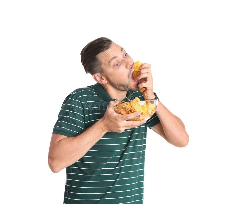 Fleisch fressende Kartoffelchips lizenzfreies stockbild
