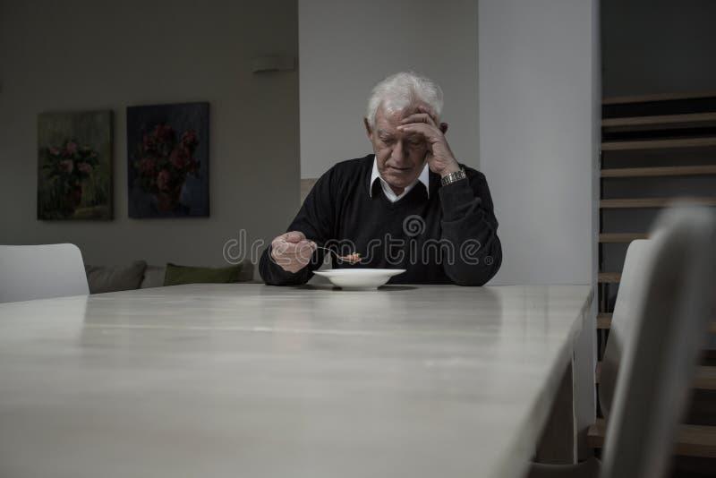 Fleisch fressende Suppe im Ruhestand stockbild