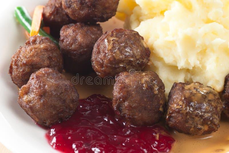 Fleisch-Kugel-Mahlzeit lizenzfreies stockbild