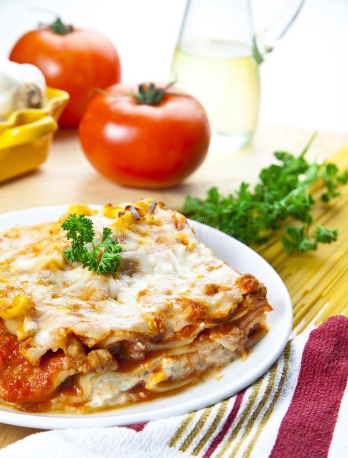 Fleisch-Lasagne lizenzfreies stockbild