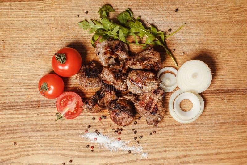 Fleisch mit Gemüse stockfoto