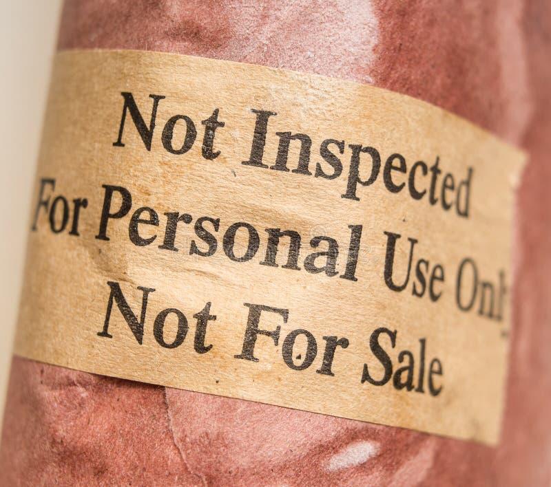 Fleisch nicht geprüft lizenzfreie stockfotos