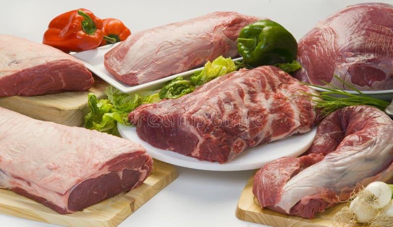 Fleisch und Gemüse lizenzfreie stockfotos