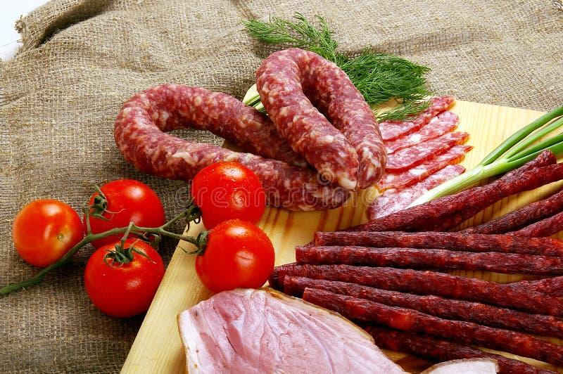 Fleisch und Wurst lizenzfreie stockfotos
