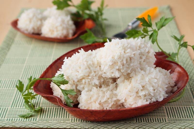 Fleischbälle mit Reis lizenzfreies stockbild