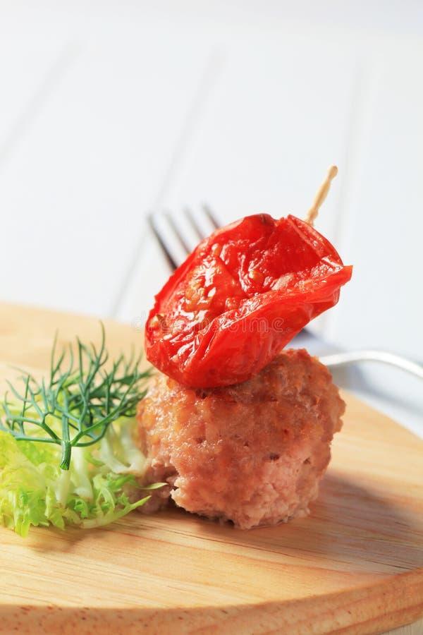 Fleischklöschenaperitif stockfoto