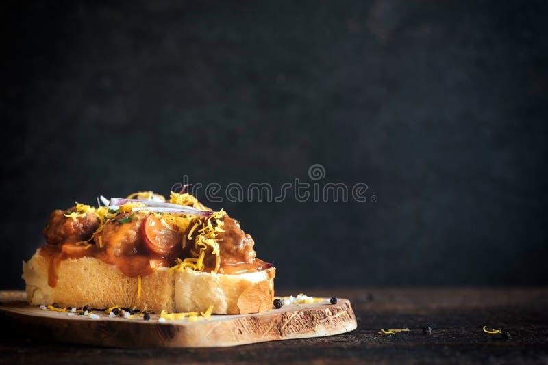 Fleischklöschenkäsesandwich stockfotografie