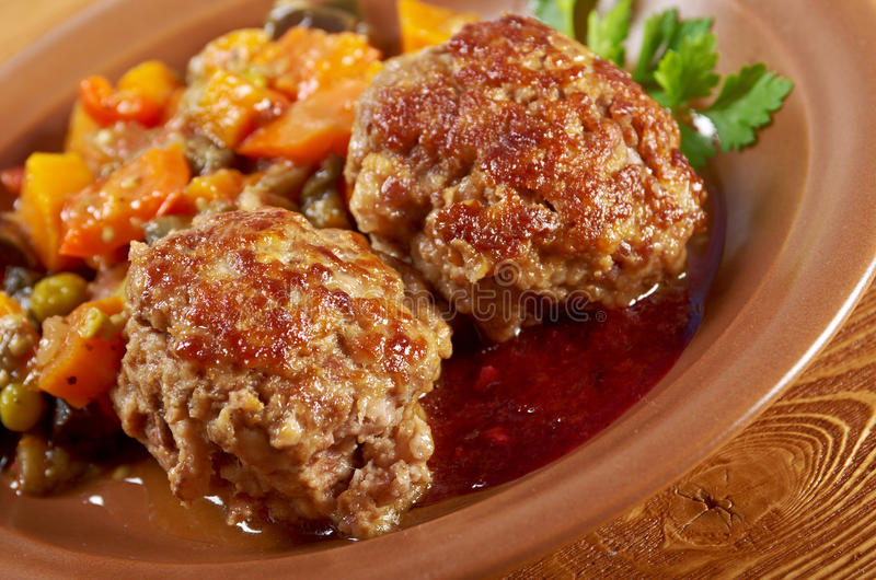 Fleischklöschenrindfleisch lizenzfreie stockfotos