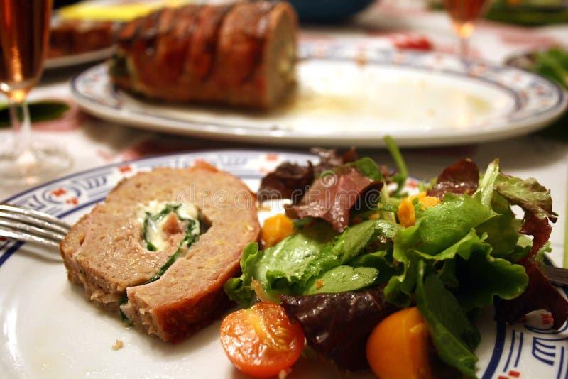 Fleischkuchen lizenzfreie stockfotografie