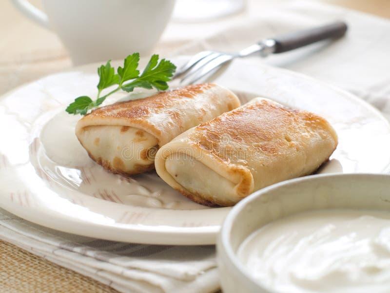 Fleischpfannkuchen lizenzfreies stockfoto