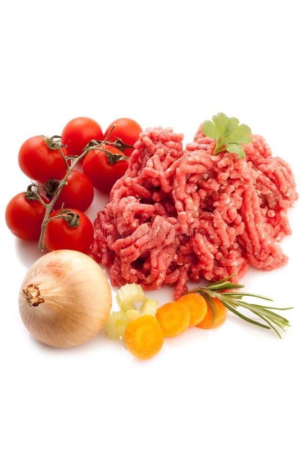 Fleischstück mit Bestandteilen lizenzfreie stockfotografie