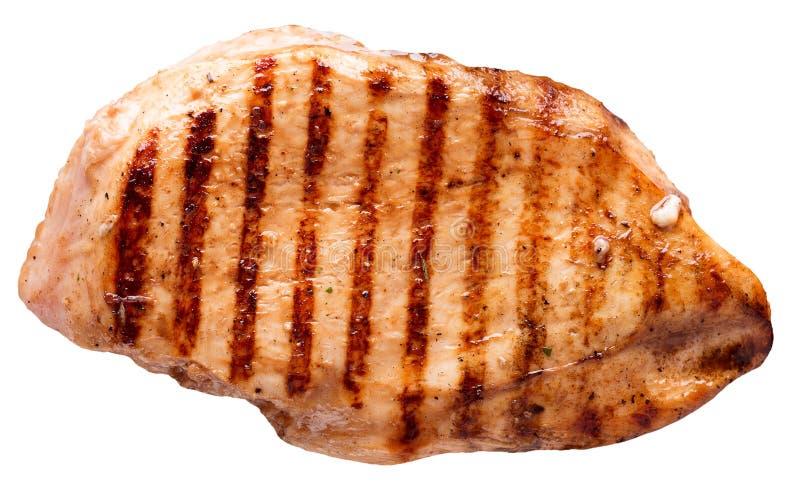Fleischsteak lokalisiert auf einem weißen Hintergrund stockfoto
