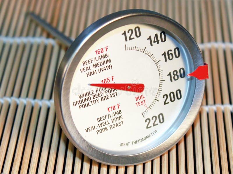Fleischthermometer lizenzfreie stockfotos