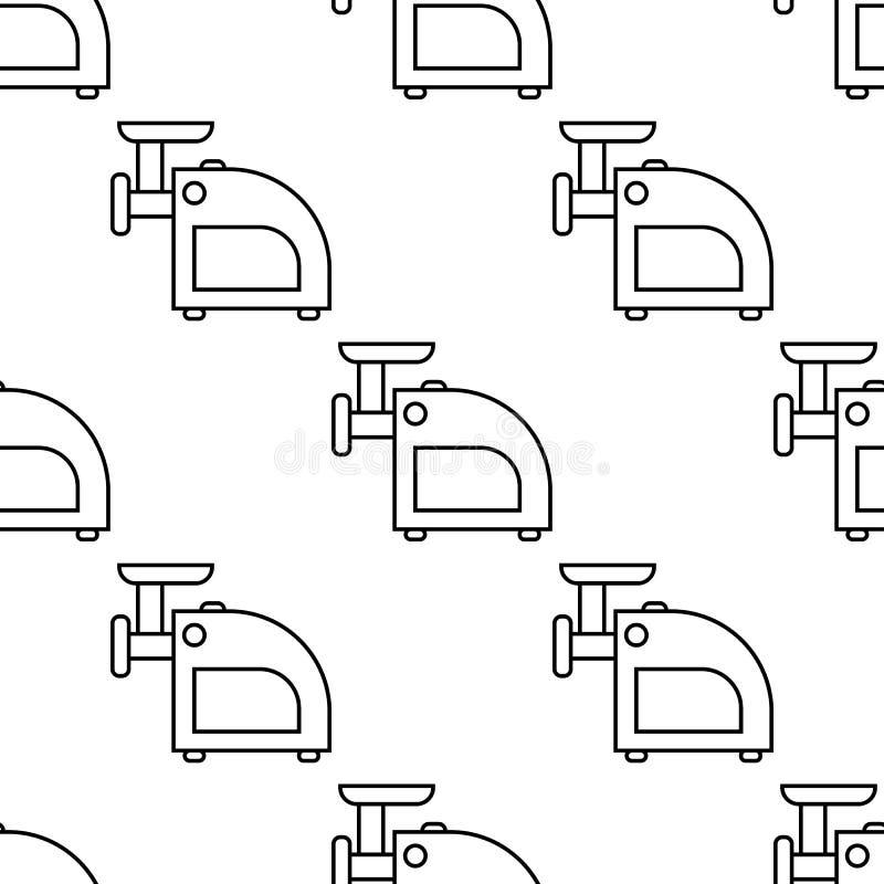 Fleischwolfikone Element der Geräteikone für bewegliche Konzept und Netz apps Nahtlose Fleischwolfikone der Musterwiederholung Se stock abbildung