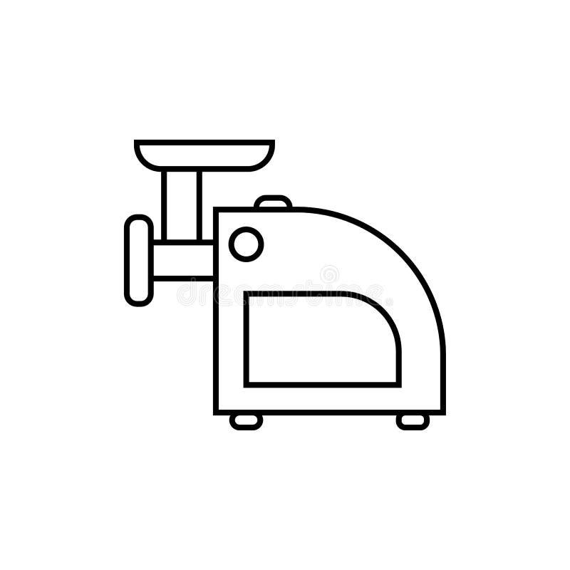 Fleischwolfikone Element von Haushaltsgeräten für bewegliche Konzept und Netz apps Dünne Linie Ikone für Websitedesign und -entwi vektor abbildung