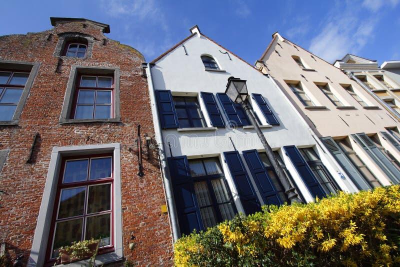 Flemish Houses Royalty Free Stock Photos