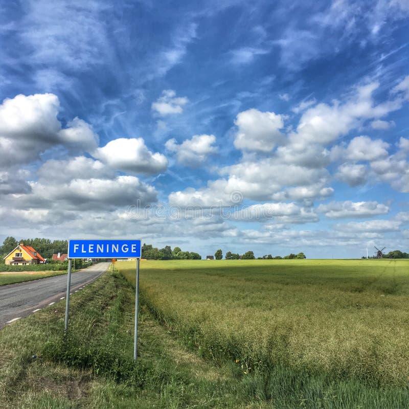 Fleninge village stock photos