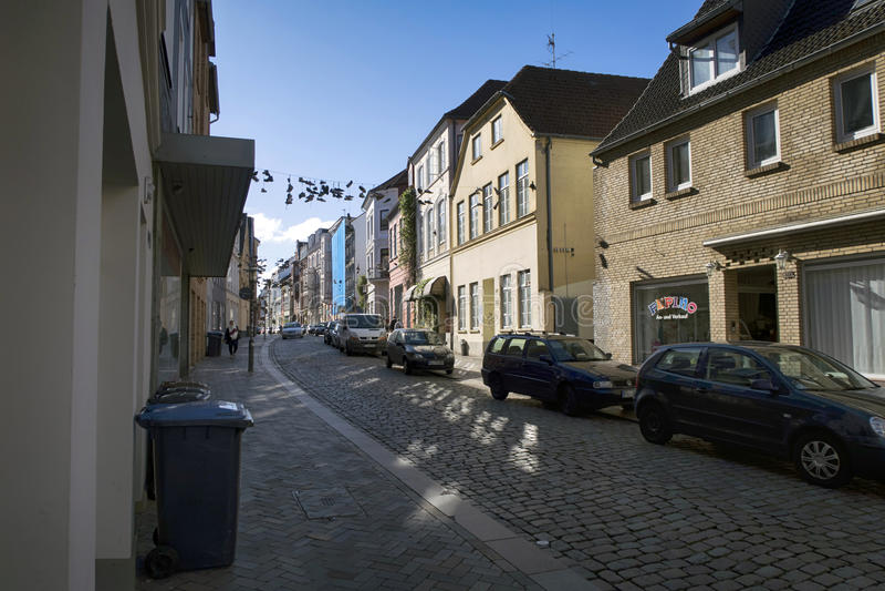 Flensburg-Straße lizenzfreie stockbilder