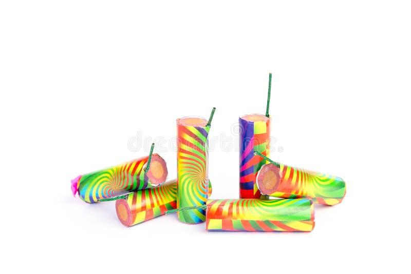 Flera färgrika fyrverkerijordningsblommor arkivfoton