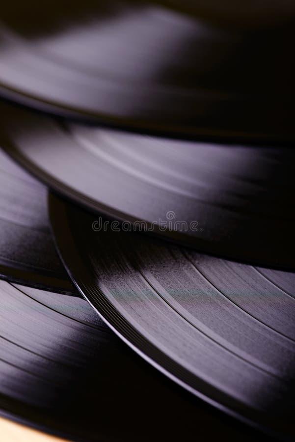 Flera LPrekord på tabellen arkivfoton