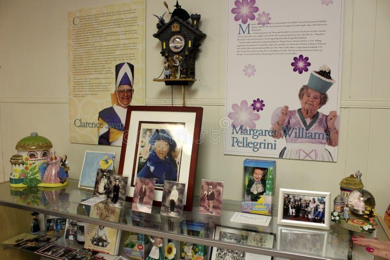Flera objekt som omger livet av klubbaungar, allt sakeruns-museum, Chittenango, New York, 2018 arkivbild