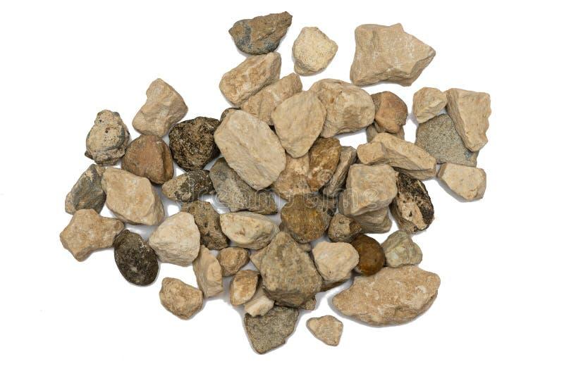 Flera olika stenar arkivfoton
