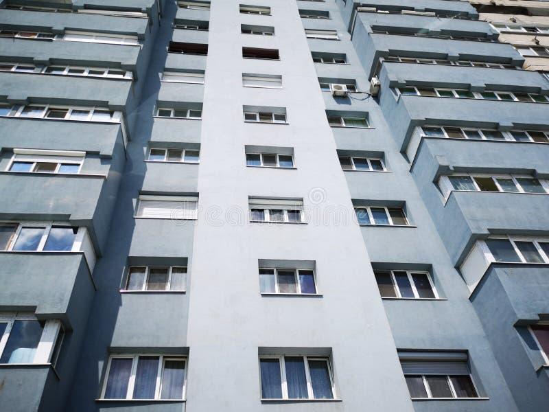 Flerbostadshus från Östeuropa fotografering för bildbyråer