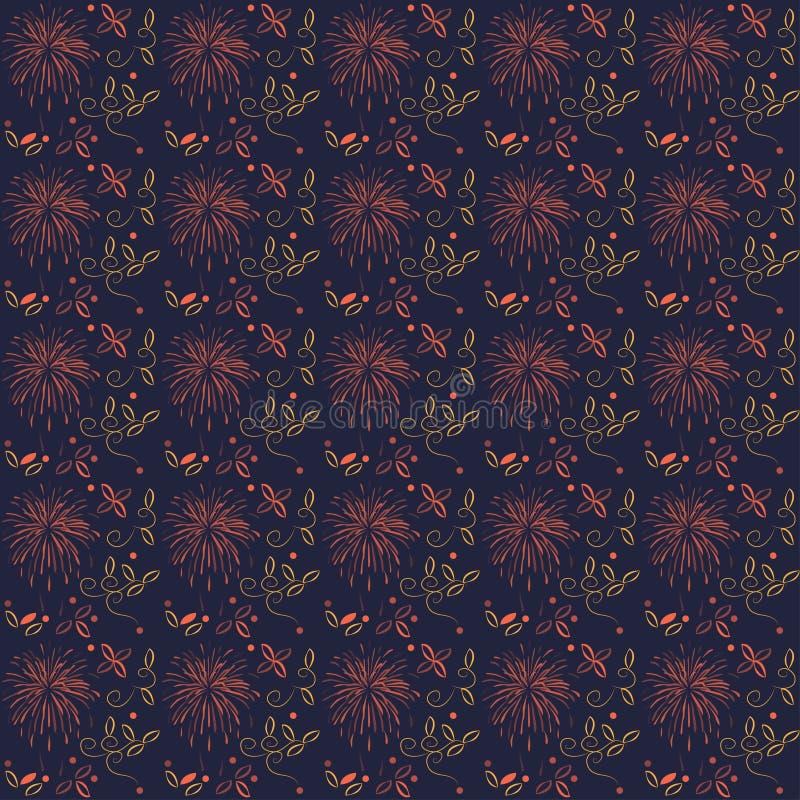 Flerfärgad bakgrund för abstrakt sömlös blom- modell royaltyfri illustrationer