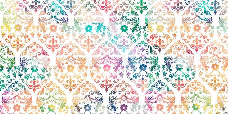 Flerfärgad digital väggtegelplattadekor för det inre hemmet, tapet, linoleum, webpage, bakgrund, illustration vektor illustrationer