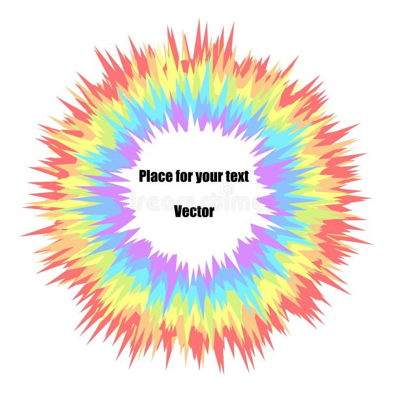 Flerfärgad explosion för regnbågeabstrakt begreppfärg på en isolerad ljus bakgrund Fyrverkerier för ferie för barn` s vektor stock illustrationer